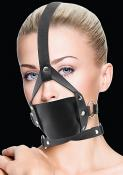 LEATHER MOUTH GAG BLACK